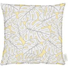 APELT OUTDOOR Kissen gelb 39x39, Pflanzenmuster