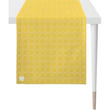 APELT Outdoor Läufer gelb/stein 46x135 cm, Kreismuster