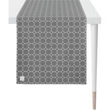 APELT Outdoor Läufer grau/stein 46x135 cm, Kreismuster