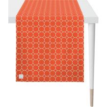 APELT Outdoor Läufer koralle/stein 46x135 cm, Kreismuster
