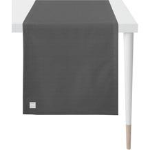 APELT Outdoor Läufer schwarz 46x140 cm