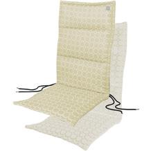 APELT Outdoor Sitzauflage beige/weiß 50x120 cm