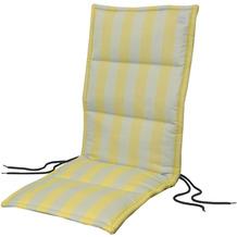 APELT Outdoor Sitzauflage gelb/stein 50x120 cm, Streifen
