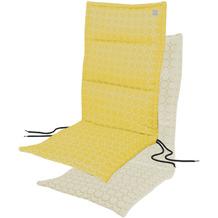 APELT Outdoor Sitzauflage gelb/stein 50x120 cm, Kreismuster