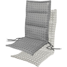 APELT Outdoor Sitzauflage grau/stein 50x120 cm