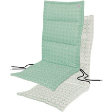 APELT Outdoor Sitzauflage türkis/stein 50x120 cm, Kreismuster