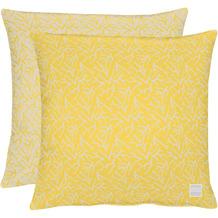 APELT Outdoor Wendekissen gelb/stein 45x45 cm, Stockmuster