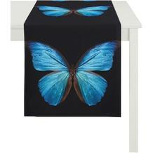 APELT Papillon Unique schwarz-blau 45 cm x 135 cm