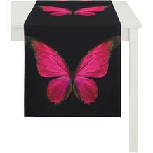 APELT Papillon Unique schwarz-rot 45 cm x 135 cm