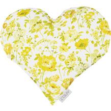 APELT Springtime Herzkissen gelb 30x32 cm