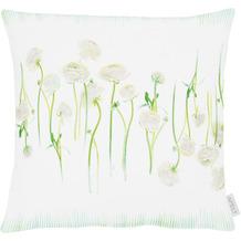 APELT Springtime Kissenhülle weiß/grün 46x46 cm