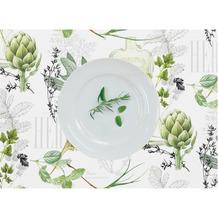 APELT Summer Garden 2er Tischset weiß/grün 2er Set 35x48 cm