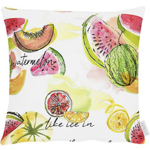 APELT Summer Garden Kissenhülle bunt / multi, Früchte 40x40 cm