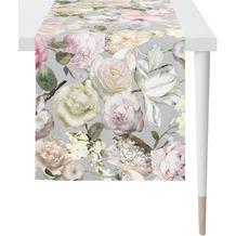 APELT Summer Garden Läufer lang grau / rose 40x170 cm