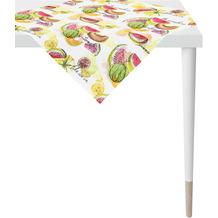 APELT Summer Garden Tischdecke bunt / multi, Früchte 100x100 cm