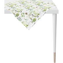 APELT Summer Garden Tischdecke weiß/grün 100x100 cm