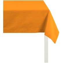 APELT Tischdecke Uni Basic, orange 100 cm x 100 cm
