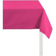 APELT Tischdecke Uni Basic, pink 100 cm x 100 cm