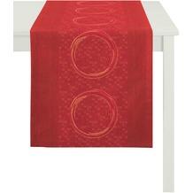 APELT Tischläufer Loft Style, rot 48 cm x 140 cm, Kreismuster