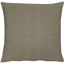 APELT Uni-Basic Kissenhülle grau/braun 40x40