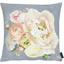 APELT UNIQUE Kissen grau/rose 45x45 cm