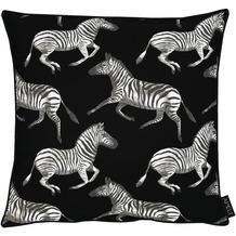 APELT UNIQUE Kissen kunstvoll gestaltete Zebras schwarz / weiß 45x45 cm