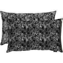 APELT Unique Kissen schwarz/grau 45x60 cm