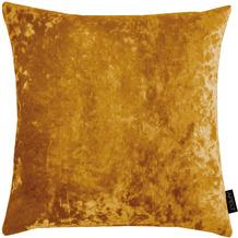 APELT UNIQUE Kissen Uni mit Pannesaumtstruktur gelb 45x45 cm