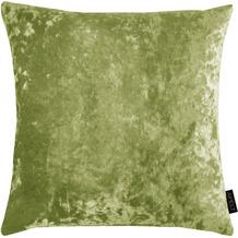 APELT UNIQUE Kissen Uni mit Pannesaumtstruktur grün 45x45 cm