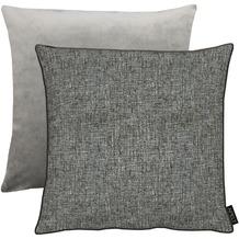 APELT Unique Kissen Vorderseite: anthrazit/grau - Rückseite: Uni grau 45x45 cm
