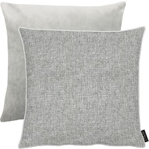 APELT Unique Kissen Vorderseite: grau/silber - Rückseite: Uni grau 45x45 cm