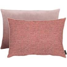 APELT Unique Kissen Vorderseite: rosa - Rückseite: Uni zartes rose 40x60 cm
