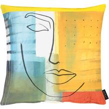 APELT UNIQUE Kissenhülle bunt / multi 46x46 cm, Gesicht
