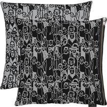 APELT Unique Kissenhülle schwarz/grau 46x46 cm