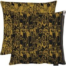 APELT Unique Kissenhülle schwarz/kupfer 46x46 cm