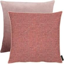 APELT Unique Kissenhülle Vorderseite: rosa - Rückseite: Uni zartes rose 46x46 cm