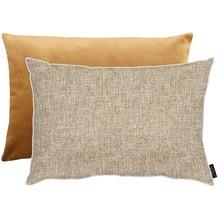 APELT Unique Kissenhülle Vorserseite: nartur/beige - Rückseite: Uni helles braun 41x61 cm