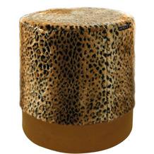 APELT UNIQUE Sitzpouf rund Gepardoptik gelb / braun R41x41 cm