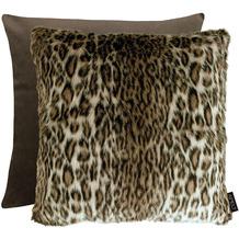 APELT UNIQUE Wendekissenhülle Leopardenoptik braun 46x46 cm