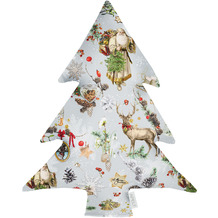 APELT Winterwelt Baumkissen Christmas-all-over rot / multi 37x50 cm