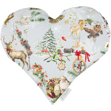 APELT Winterwelt Kissen Christmas-all-over rot / multi 30x32 cm