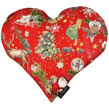 APELT Winterwelt Kissen Christmas-all-over weiß / multi 30x32 cm
