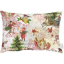 APELT Winterwelt Kissen rot/grün/bunt 35x50