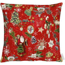 APELT Winterwelt Kissenhülle Christmas-all-over weiß / multi 40x40 cm