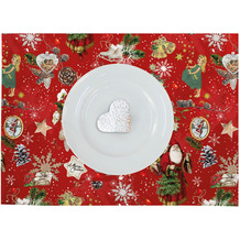 APELT Winterwelt Platzset Christmas-all-over weiß / multi 35x48 cm