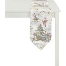 APELT Winterwelt Tischband creme/pastell/bunt 25x175