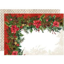 APELT Winterwelt Wendeset Weihnachtsgirlande rot / grün 35x48 cm