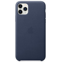 Apple Leder Case iPhone 11 Pro Max mitternachtsblau