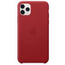 Apple Leder Case iPhone 11 Pro Max rot