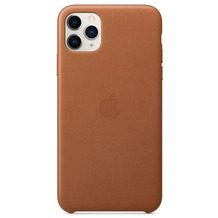 Apple Leder Case iPhone 11 Pro Max sattelbraun